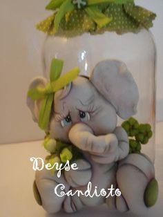 frascos decorados con porcelana fria - Pesquisa Google
