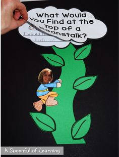 A Spoonful of Learning: Jack and the Beanstalk Fairy Tale Activities, Eyfs Activities, Reading Activities, Kindergarten Writing, Kindergarten Activities, Eyfs Jack And The Beanstalk, Talk 4 Writing, Fairy Tales Unit, Fairy Tale Theme
