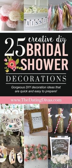top 25 diy bridal shower decorations i like how these are