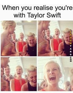 Unfortunately, I have yet to relate to this since I haven& been with Taylor Swift (yet). Taylor Swift Fan Club, Taylor Swift Funny, Long Live Taylor Swift, Taylor Swift Pictures, Taylor Alison Swift, Taylor Taylor, Taylor Swift Facts, Katy Perry, When You Realize