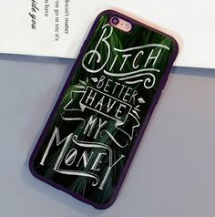 Rihanna Bitch Better Have My Money Soft Rubber Mobile Phone Cases For iPhone 6 6S Plus 7 7 Plus 5 5S 5C SE 4S Back Cover Shell
