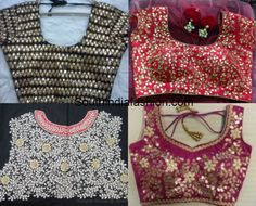 gota patti work designs on blouses