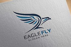 Eagle Fly v2 Logo Template by @Graphicsauthor