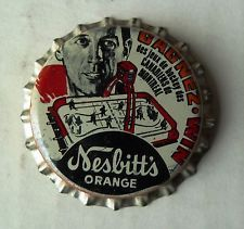 1972-73 Nesbitt's Orange Bottle Cap Jean Beliveau Montreal Canadiens 'Beautiful'