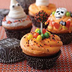 9 Cute Halloween Cupcakes  | Trick or Treat Cupcakes | MyRecipes.com