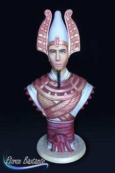 Osiris - Egypt Land of Mystery Collaboration - cake by Floren Bastante / Dulces el inflón 3d Cakes, Fondant Cakes, Fondant Cake Designs, Cake Structure, Gravity Defying Cake, Egyptian Food, Food Artists, Sculpted Cakes, Beautiful Cupcakes