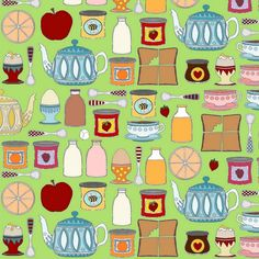 Summer House Breakfast fabric by scrummy on Spoonflower - custom fabric