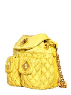 MOSCHINO - Quilted Nylon Backpack, love the style, might like this in pink, or pearly white a bit more
