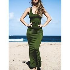 11.84$  Buy now - http://vicla.justgood.pw/vig/item.php?t=ftefbe18617 - Sexy Scoop Neck Sleeveless Open Back Mermaid Women's Dress