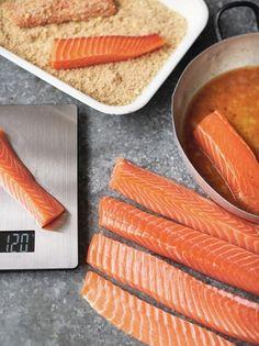 Salmon fish sticks - idea for grand daughter Jamie Oliver Jumbo fish fingers