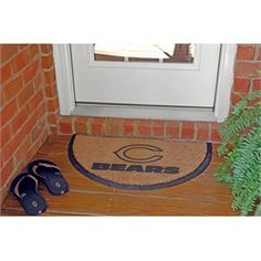 f3edd36bb The Memory Company Denver Broncos Half Moon Door Mat - - Rug Slices and  Wedges - Area Rugs by Shape - Area Rugs