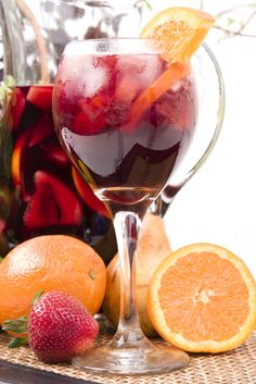 Sangria...had the best sangria while in Califorina at El Torito.  Hope I can recreate the marvelous mixture.  Nummy