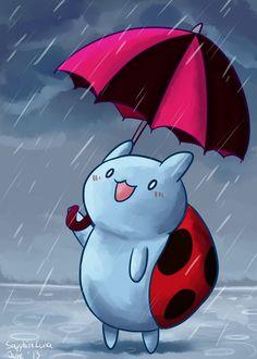 fan art from http://sapphireluna.deviantart.com/art/Rainy-Catbug-380649871