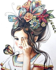 Items similar to female empowerment, art print ,woman artwork, portrait artwork ,claudia tremblay flowers in her hair. on Etsy Claudia Tremblay, Hair Illustration, Balloon Illustration, Illustration Pictures, Landscape Illustration, Hair Painting, Painting Flowers, Flowers In Hair, Draw Flowers