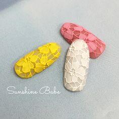 colour lace nail art