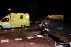 Auto te water bij aanrijding Groendalseweg Bleiswijk ... IMG_7771
