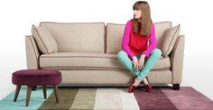 Wolseley 3 Seater Sofa in fawn beige £999 | made.com #woolweek #onewool