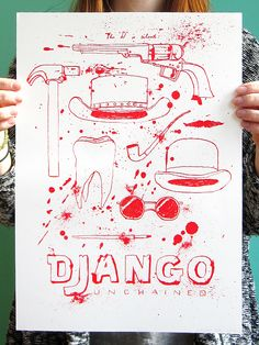 Made by Marianne Lock / Movieposter / Django Unchained / Film / Poster / FOR SALE
