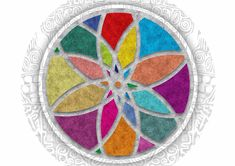 Free Image on Pixabay - Mandala, Colors, Floral, Flower Mandala Design, Mandala Art, Stained Glass Church, Flower Texture, Mandalas Drawing, Fun Snacks For Kids, Mandala Coloring, Zentangle Patterns, Back Tattoo