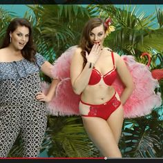 Our for red lingerie set in the TV commercial :) Red Lingerie, Tv Commercials, Bikinis, Swimwear, Curvy, Models, Instagram Posts, Management, Trends