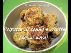 Polpette di tonno e ricotta (senza uova) - Ricetta facile e veloceTuna and ricotta meatballs (without eggs) - Easy and fast recipehttp://zampetteinpasta.blogspot.it/2015/09/polpette-di-tonno-e-ricotta-senza-uova.html