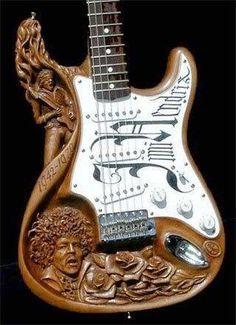 VooDoo Child Strat, a commemorative guitar for Jimi Hendrix posthumously Guitar Art, Music Guitar, Cool Guitar, Playing Guitar, Acoustic Guitar, Ukulele, Guitar Room, Guitar Pics, Custom Electric Guitars