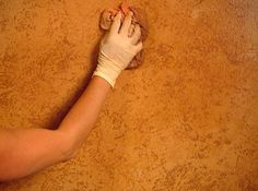 faux parchment wall paint images | Decorative Paint Technique: Leather Wall Instructions : Decorating ...
