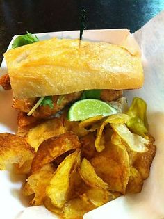 Chomp Chomp is the perfect place to grab a fried catfish sandwich while you're in Downtown Jacksonville.