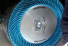 Companies like #Bridgestone are experimenting with Airless #tires for use in daily driving.