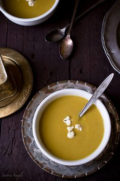 Curry Spiced Cauliflower Parsnip Soup - Savory Simple