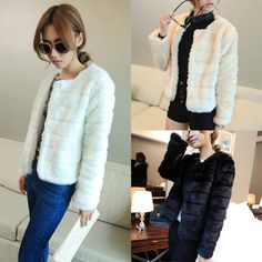 New 2014 European Fashion Women Fur Coats Autumn Long Sleeve Solid Color Jacket Women's Clothing Outwear Womens Brand Jackets US $15.99