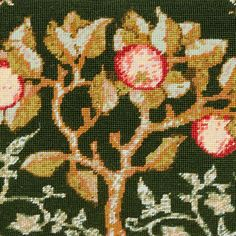 Our 'Apple Tree' is adapted from an artwork in the collections of the Victoria and Albert Museum, London. 🌳🍎 Art Nouveau Flowers, Tapestry Kits, Needlepoint Kits, Apple Tree, Victoria And Albert Museum, Design Museum, Cotton Canvas, Needlework, Original Artwork