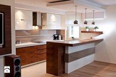 Modern Kitchen Design : Kuchnia styl Nowoczesny zdjęcie od All Design Agnieszka Lorenc Small Condo Kitchen, Open Plan Kitchen Living Room, Smart Kitchen, Kitchen Sets, Kitchen Layout, Kitchen Decor, Modern Kitchen Interiors, Modern Kitchen Design, Kitchen Interior Inspiration