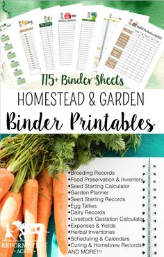 2018 Homestead Management Printables Organize your homestead and garden in 2018 with printable Homestead Management Planner sheets for your homesteading binder!