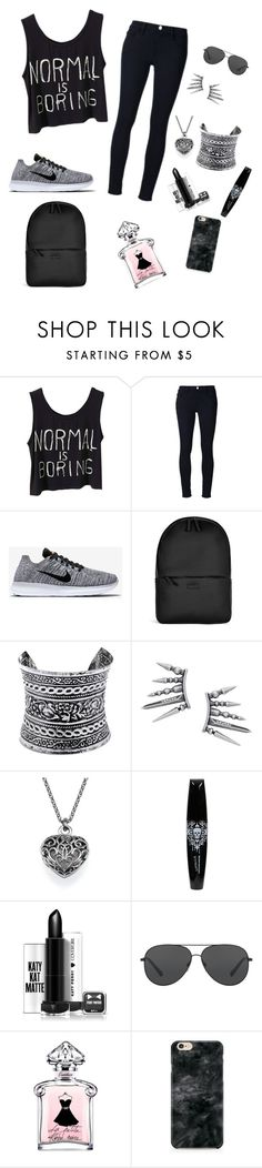 """NORMAL IS BORING"" by panikra on Polyvore featuring Frame Denim, NIKE, Rains, LULUS and Michael Kors"