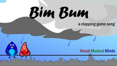 "Bim Bum is a fast and fun clapping game song that's sung on the words ""Bim Bum Biddy Biddy Bum"". Have fun! Drum Lessons, Singing Lessons, Music Lessons, Silly Songs For Kids, Kids Songs, Physical Education Lessons, Music Education, Tempo Music, Action Songs"