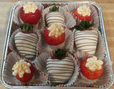 Cheesecake filled strawberries & White Chocolate Covered Strawberries
