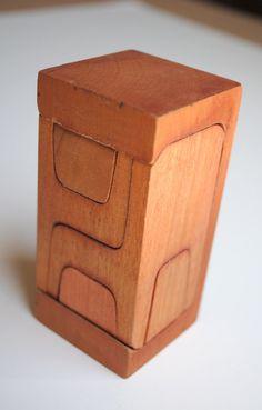 Vintage Scandinavian Toy Furniture Puzzle Set