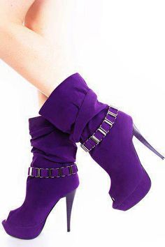 purple boots are so cute