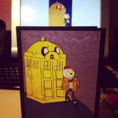 """27 Likes, 1 Comments - Judith Lim (@chibihands) on Instagram: """"Doctor Who x Adventure time card.  #handmadecards #doctorwho #adventuretime"""""""