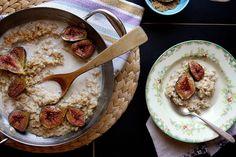 Good morning breakfast! Brown Sugar Roasted Fig Oatmeal from @JoyTheBaker
