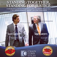 Our newest ad in the July issue of #Bakersfield Life Mag, featuring #SuperLawyer David Cohn and #RisingStar Matt Clark.