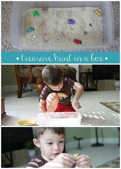 Treasure Hunt In A Box. So much fun to do with kids!
