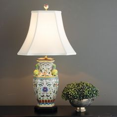 Elegant Pomegranate Handle Urn Table Lamp - Shades of Light