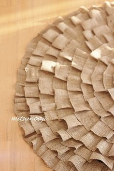 I did it! : burlap ruffle tree skirt