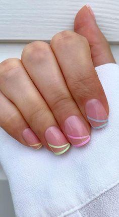 Square Oval Nails, Nail Shapes Square, Square Nail Designs, Short Square Nails, Square Acrylic Nails, Short Nail Designs, Acrylic Nail Designs, Short Nails, Chic Nails