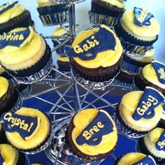 Cheerleading Cupcakes made with melting chocolates