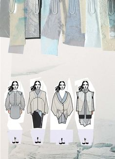 Fashion Sketchbook - fashion illustrations & textile samples; fashion portfolio layout // Chloe Bayles