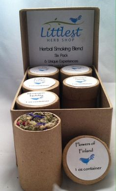 "So Excited to Offer Our New The ""Six Pack"" Herbal Smoking Blend Variety by LittlestHerbShop"