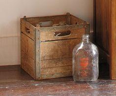 Vintage Milk Bottles & Crates